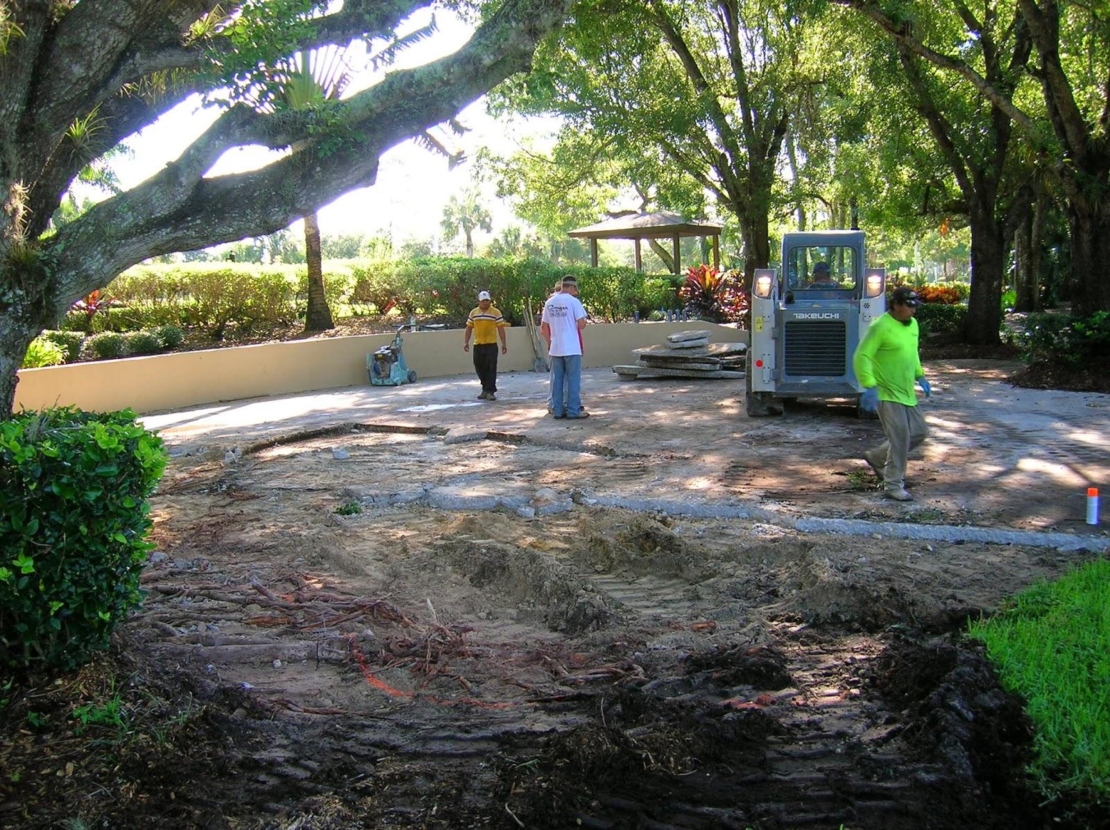 Wedding area/fitness garden work