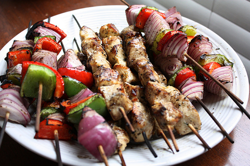 Lemon Garlic Chicken Kabobs Virgin Diet Recipes